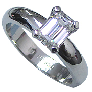 Platinum 1.00ct Diamond Ring