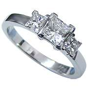 14K White Gold 1.26cttw Diamond Ring