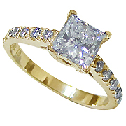 18K Yellow Gold 1.00cttw Diamond Ring