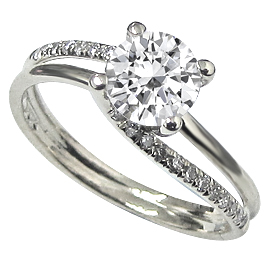 14K White Gold Multi Stone Ring : 0.62 cttw Diamonds