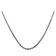 18K White Gold 18'' Round Box Chain