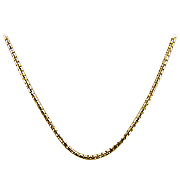 18K Yellow Gold 16'' Round Box Chain
