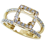 18K Yellow Gold 0.36cttw Diamond Setting