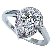 18K White Gold 1.75cttw Diamond Ring