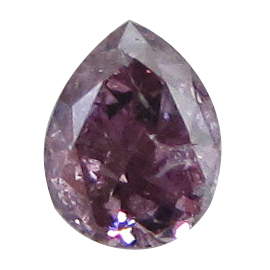 0.18 ct Pear Shape Diamond : Fancy Grayish Pink Purple / I1