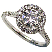 Platinum 1.20cttw Diamond Ring