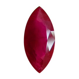 1.66 ct Marquise Ruby : Pigeon Blood Red