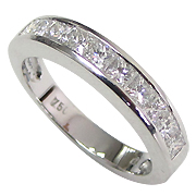 18K White Gold 0.75cttw Diamond Band