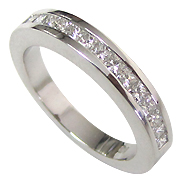 18K White Gold 0.40cttw Diamond Band
