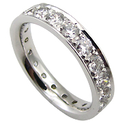 18K White Gold 2.00cttw Diamond Band