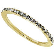 18K Yellow Gold 0.17cttw Diamond Band
