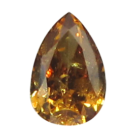 0.29 ct Pear Shape Diamond : Fancy Yellowish Brown Orange / SI2