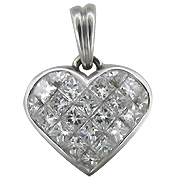18K White Gold 2.20cttw Diamond Pendant