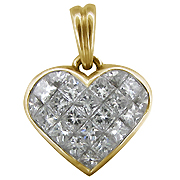 18K Yellow Gold 2.20cttw Diamond Pendant