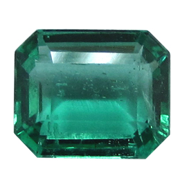 1.40 ct Emerald Cut Emerald : Fine Green