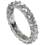18K White Gold 3.00cttw Diamond Band