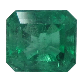 0.96 ct Emerald Cut Emerald : Fine Green