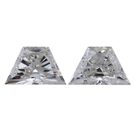 0.55 cttw Pair of Trapezoid Diamonds : F / SI2
