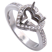 18K White Gold 0.30cttw Diamond Setting