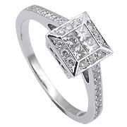 18K White Gold 0.46cttw Diamond Ring