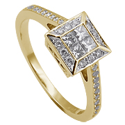 18K Yellow Gold 0.46cttw Diamond Ring