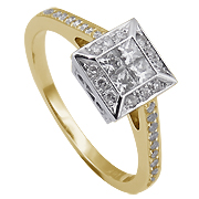 18K Two Tone 0.46cttw Diamond Ring