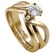 18K Yellow Gold 0.50ct Diamond Set