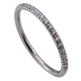18K White Gold Band : 0.10 cttw Diamonds