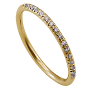 18K Yellow Gold 0.10cttw Diamond Band