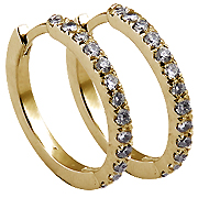 18K Yellow Gold 0.90cttw Diamond Earrings
