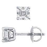 18K White Gold 1.00cttw Diamond Earrings