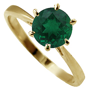 14K Yellow Gold 1.00ct Emerald Ring