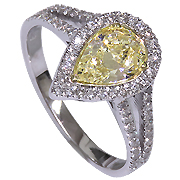 14K White Gold 1.54cttw Diamond Ring