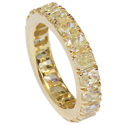 18K Yellow Gold 6.50cttw Diamond Band