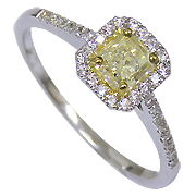 14K White Gold 0.70cttw Diamond Ring