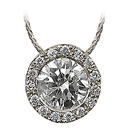 18K White Gold 0.56cttw Diamond Pendant