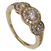 18K Yellow Gold 0.83cttw Diamond Ring
