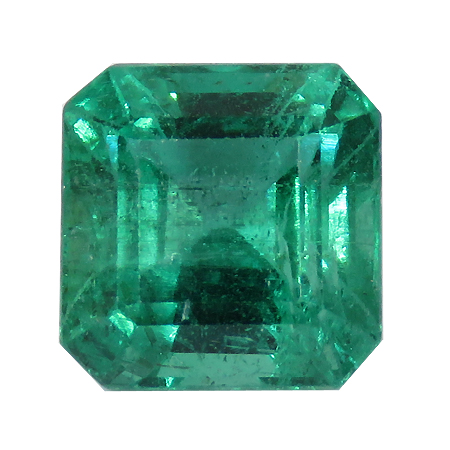 2.22 ct Emerald Cut Emerald : Rich Green