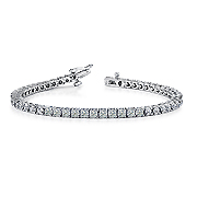 18K White Gold 16.00cttw Diamond Bracelet
