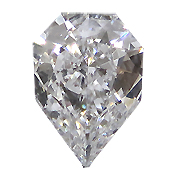 0.35 ct D / SI1 Shield Shape Diamond