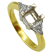 18K Two Tone 0.54cttw Diamond Setting