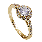 14K Yellow Gold 0.72cttw Diamond Ring
