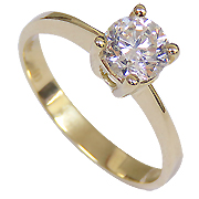 18K Yellow Gold 1.00ct Diamond Ring