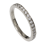 18K White Gold 0.50cttw Diamond Band