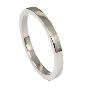 18K White Gold Band