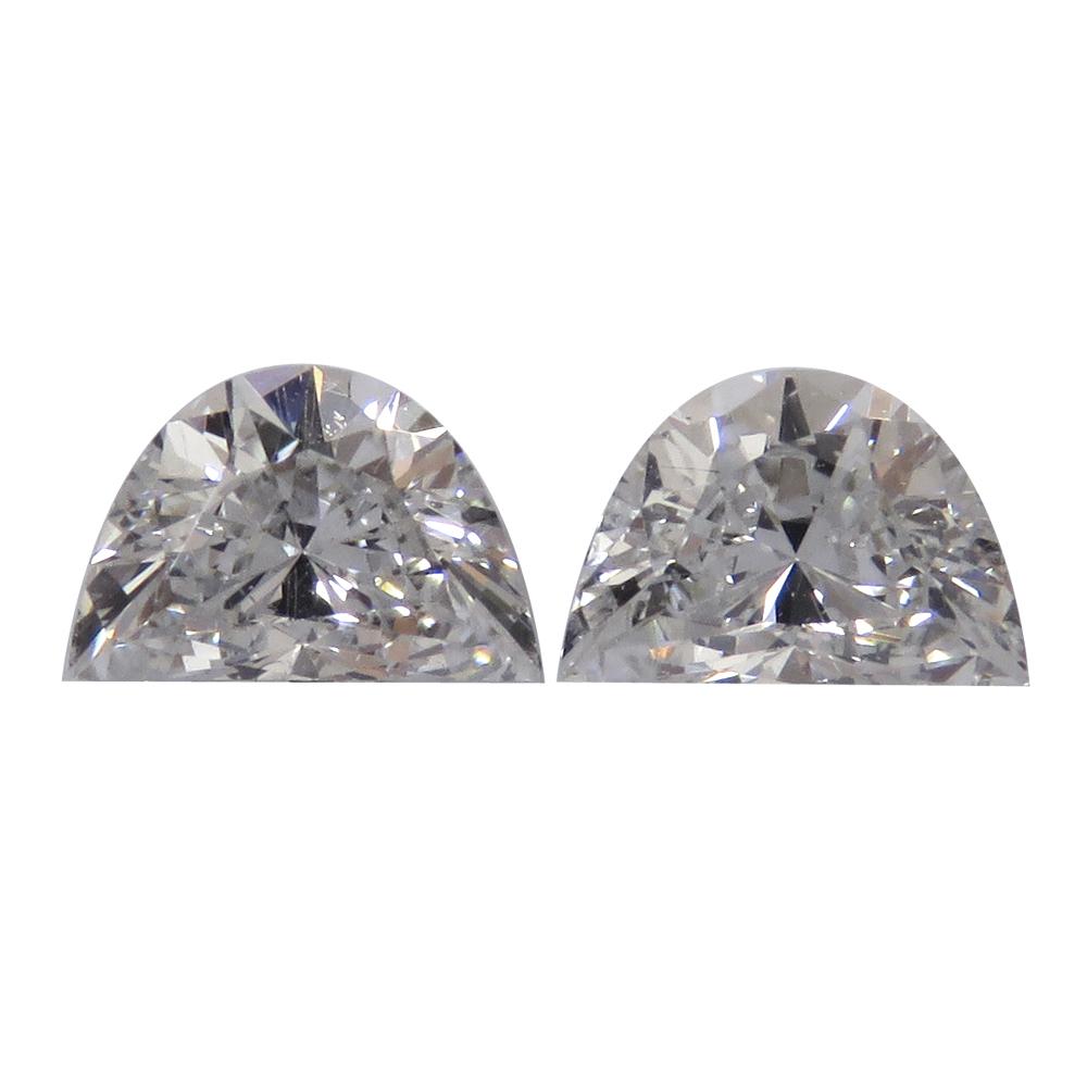 0 51 Cttw Pair Of Half Moon Diamonds F Vs2
