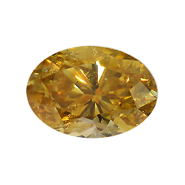 0.61 ct Oval Diamond : Fancy Brownish Orangy Yellow / SI1