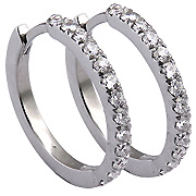 18K White Gold 0.90cttw Diamond Earrings
