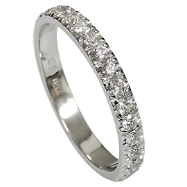 18K White Gold Band : 0.80 cttw Diamonds