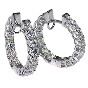 18K White Gold 2.50cttw Diamond Earrings